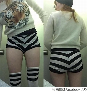 パンツ短すぎて飛行機搭乗拒否、機長が「けしからん」と許さず。.jpg